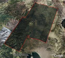 Steve Fossett search area imagery in Google Earth