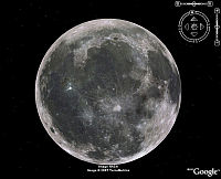 The Moon in Google Earth