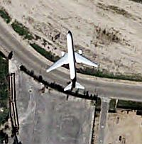 Planes in Flight Flying in Google Earth screenshot