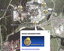 Roller Coasters Amusement Parks in Google Earth