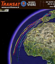 Transat Jacques Vabre 2005 in Google Earth screenshot