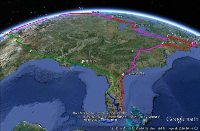 The Usa Four Corners Motorcycle Tour Google Earth Blog