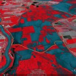 New false color image of the Morganza flooding