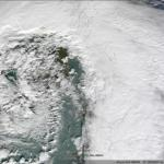 Amazing extratropical cyclone over the United Kingdom