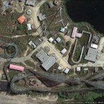 Abandoned theme parks in Google Earth