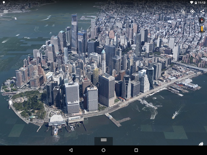 New Google Earth for Android