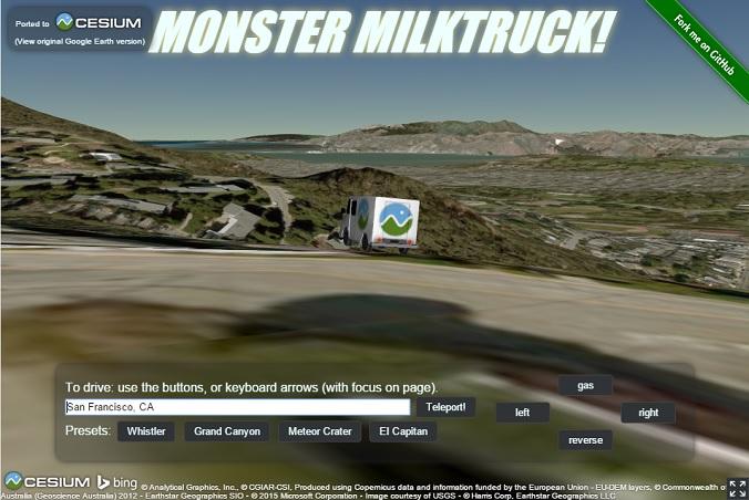 Monster Milktruck ported to Cesium - Google Earth Blog