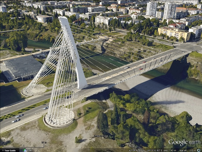 Bridge in Podgorica, Montenegro