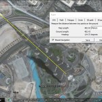 Google Earth measurement and image alignment