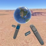 Google Earth VR Controllers selecting location