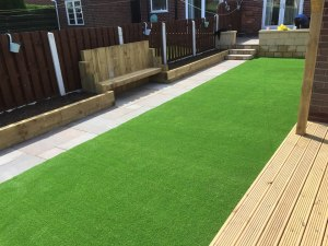 new maintenance free lawn and decking