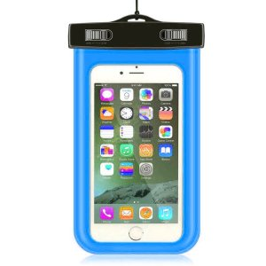 "Cell Phone Waterproof Case Dry Pouch Bag, Up to 6.0"" for Iphone 7,6s Plus- Samsung Galaxy S7 Edge, S6, S5,HTC,LG(Blue)"