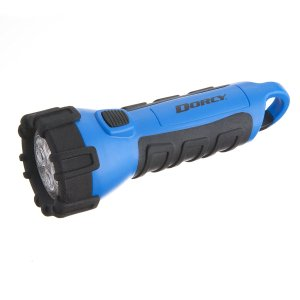 Dorcy 41-2514 Floating Waterproof LED Flashlight with Carabineer Clip, 55-Lumens, Blue