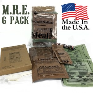 6 MRE (Meal Ready To Eat) Meals - Each Includes a Self Heating System! Perfect For The Outdoors or Survival Bug-Out Bags! Made in USA