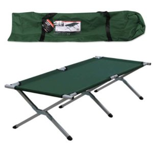 Milestone Aluminum Camp Bed with Carry Bag, Green