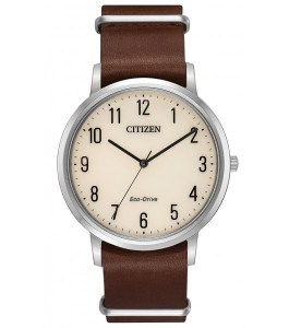 Chandler Parchment White Dial Men's Mocha Brown Watch
