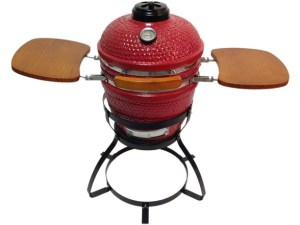 """Beacon CRG113W 13"""" Ceramic Grill with Trays and Stand - Red or Black"""
