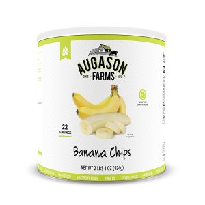 Augason Farms Banana Chips 2 lbs 1 oz No. 10 Can