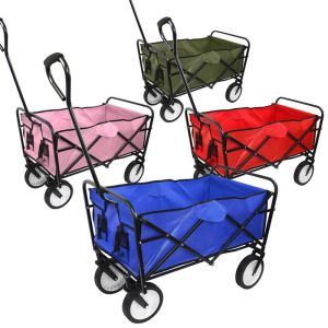 Collapsible Folding Wagon Cart Utility Garden Toy Buggy Camp Beach Sports