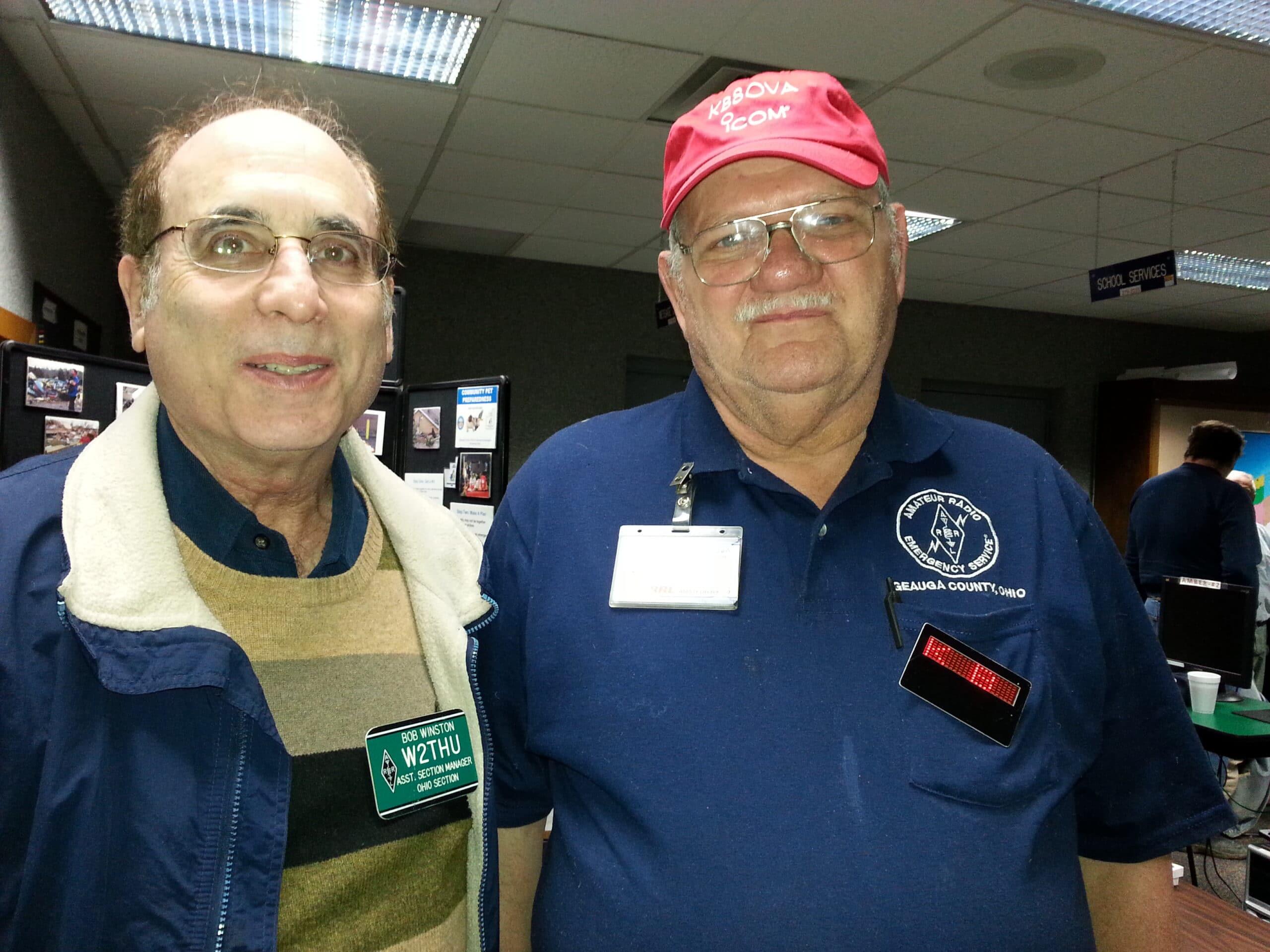 Bob W2THU and Lyle KB8OVA