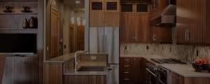 beautiful wooden clean kitchen