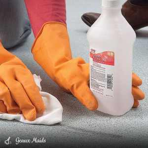 Remove Tough Stains from Vinyl Flooring