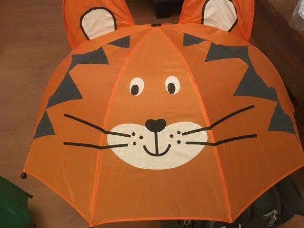 Kinderparaplu 3D tijger