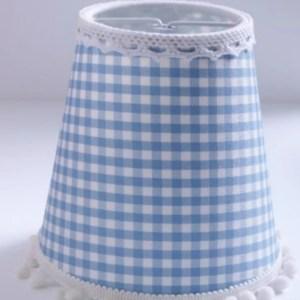 Nachtlamp Blauw Geruit