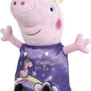 Peppa Pig knuffel paarse unicorn jurk