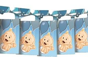 Geboorte Jongen Papieren slinger