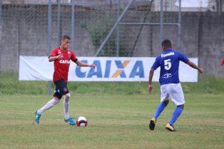 Artilheiro da Copa FGF Sub-19, Luiz Henrique fez mais dois gols nesta tarde. Foto: Gustavo Pereira