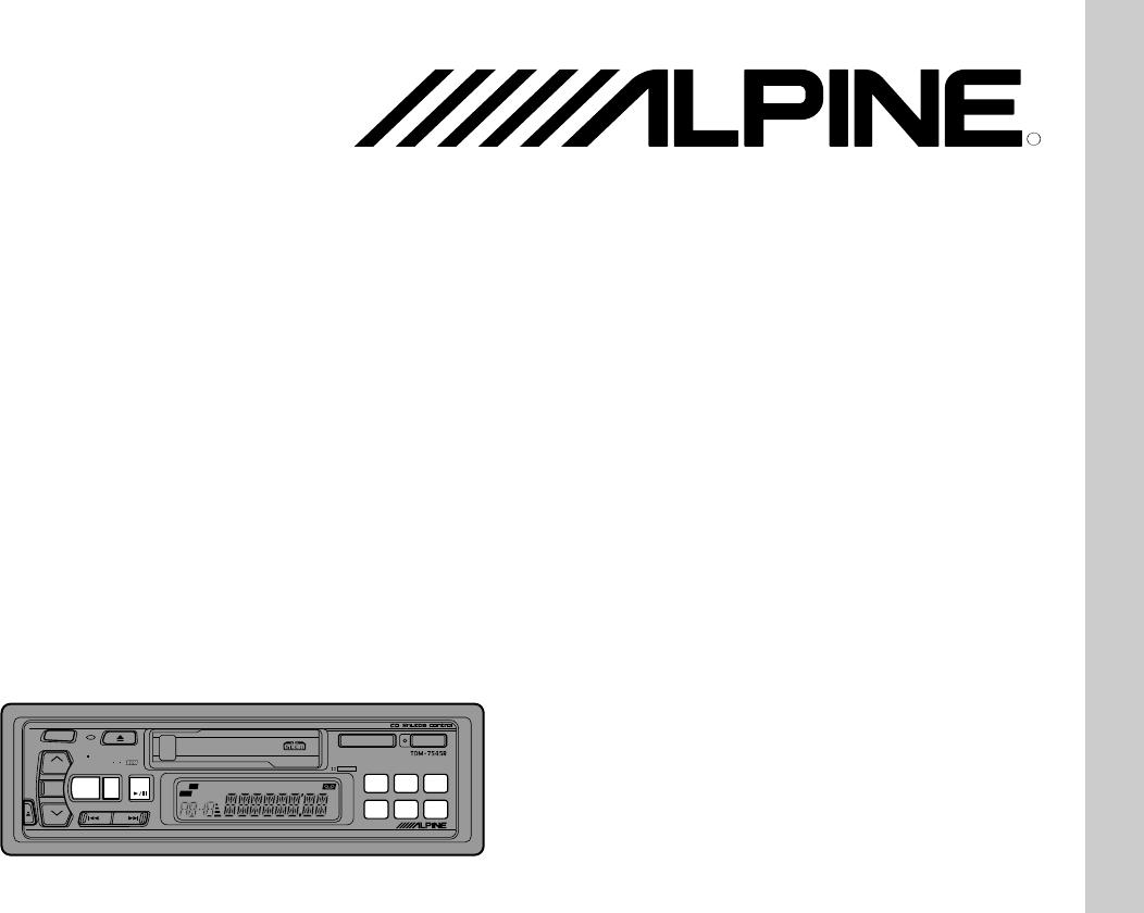 Handleiding Alpine Tdm R Pagina 1 Van 68 English