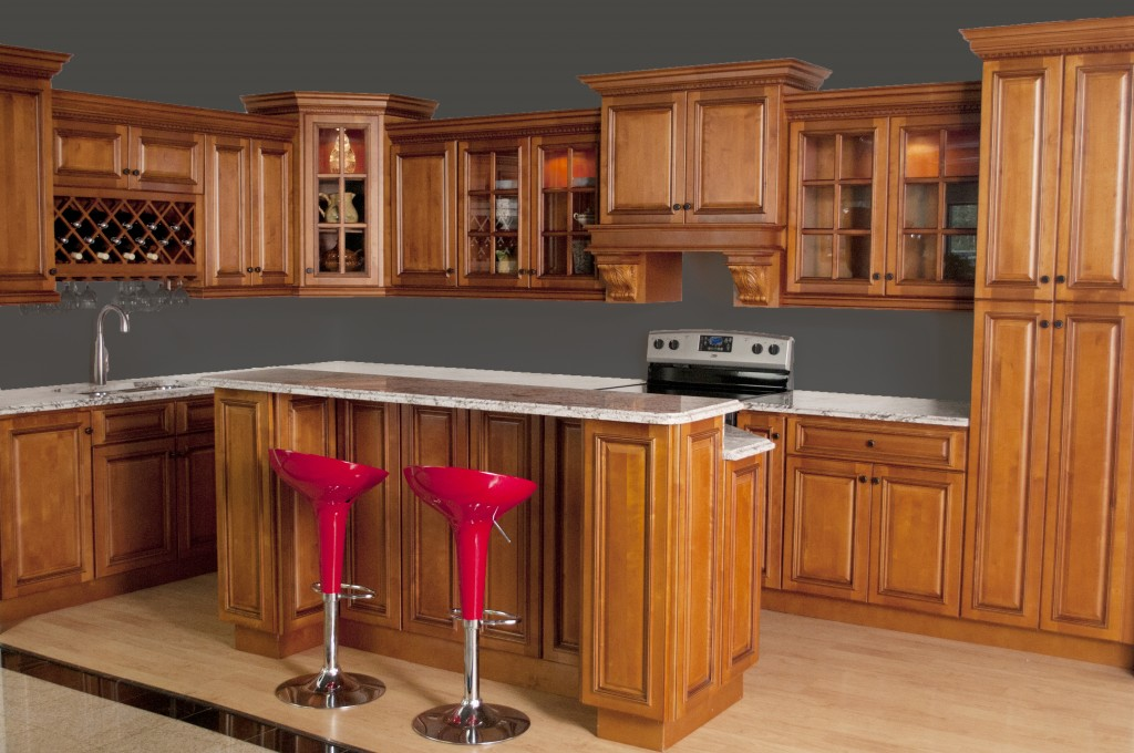 Glazed RTA Maple Kitchen Cabinets in Minnesota, USA on Maple Cabinets  id=26000