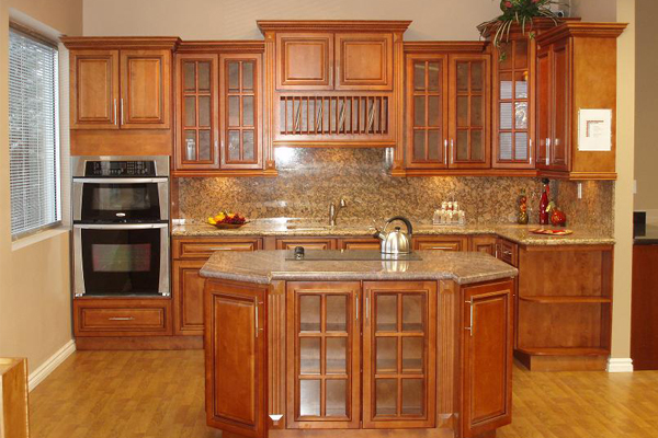 Glazed RTA Maple Kitchen Cabinets in Minnesota, USA on Maple Cabinets Kitchen  id=43239
