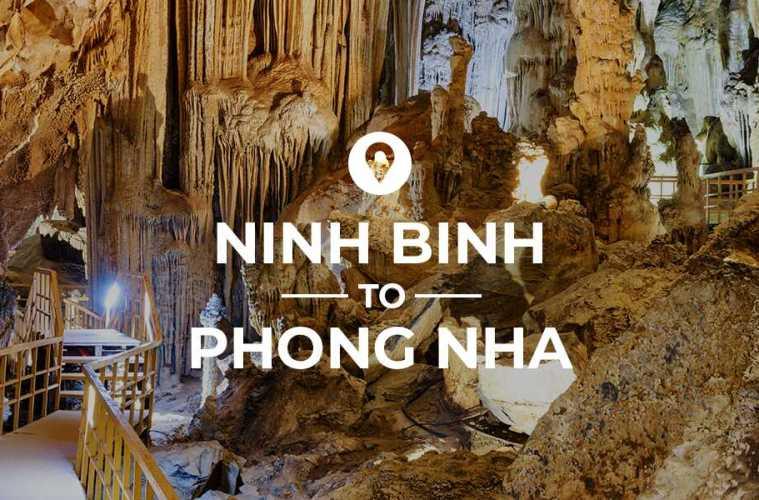 Ninh Binh naar Phong Nha reisroute