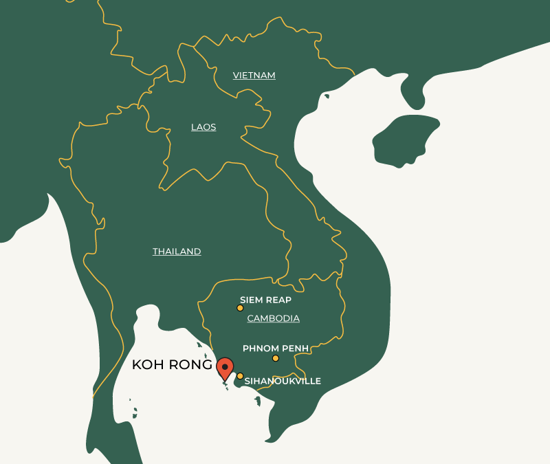Koh Rong on map