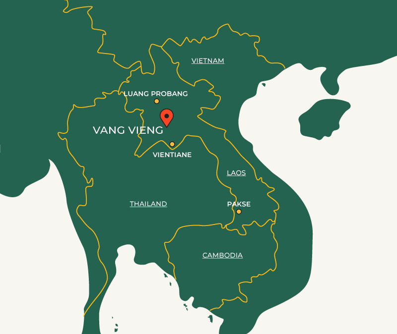 Vang Vieng on map