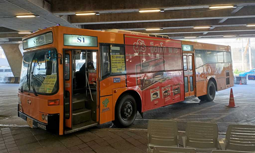 Orange Airport Shuttle Bus from Bangkok Airport