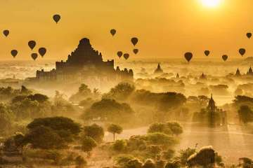 Myanmar Sunset over Bagan