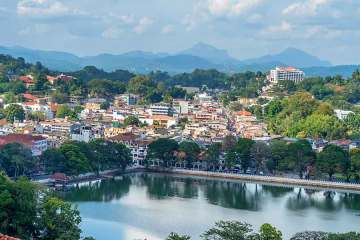 Kandy city lake Sri Lanka