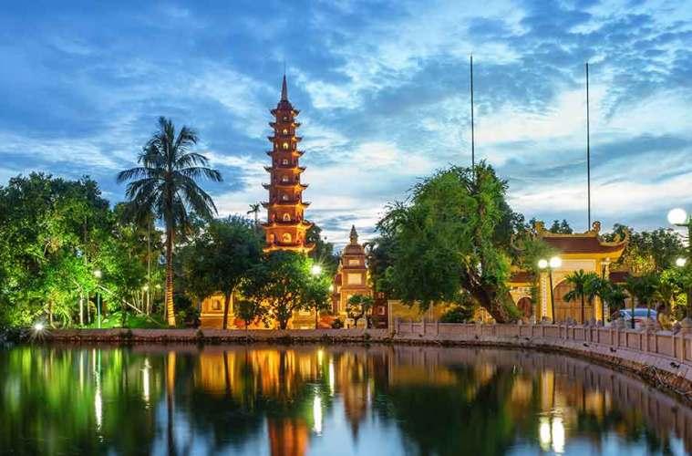 Lake in Hanoi Vietnam