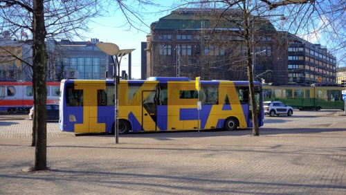 The IKEA Bus, the IKEA Bus.