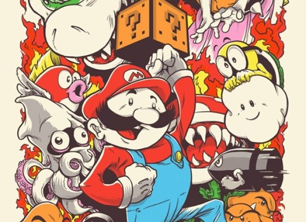 Joshua Budich – Super Mario – On Sale on French Paper Art Store