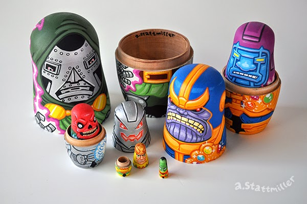 Andy Stattmiller - Nesting Dolls Marvel Villains4