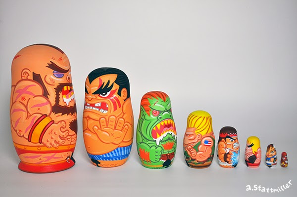 Andy Stattmiller - Nesting Dolls Street Fighters2