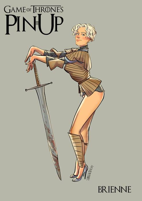 Andrew Tarusov - Game of Thrones Pin Ups Brienne