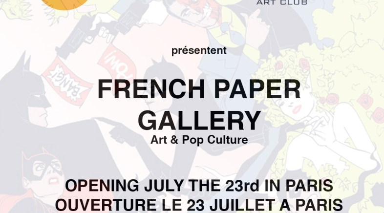 French Paper Gallery in Paris with Geek-Art !