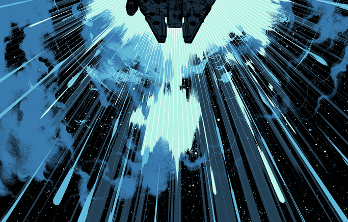 Matt Taylor Goes to Hyperspace with the Millenium Falcon for the Bottleneck Gallery
