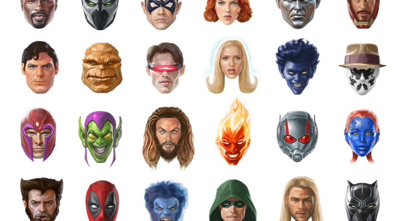 300 Heroes Faces Drawing Project by Alberto Russo