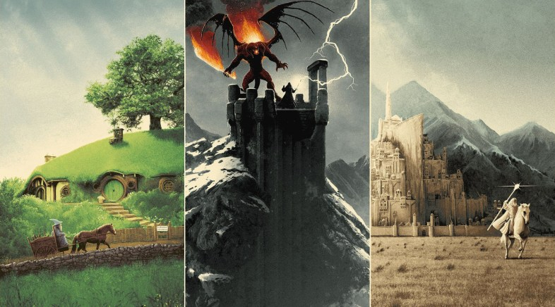 La Trilogie de Posters Lord of the Rings par Matt Ferguson pour la Bottleneck Gallery